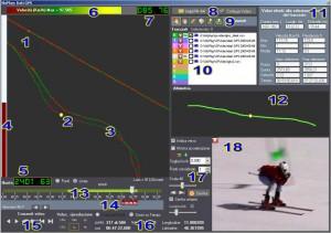 Una schermata del modulo GPS per Skiplay