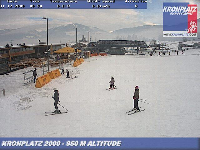 La partenza degli impianti di Brunico dopo la nevicata del 30 dicembre