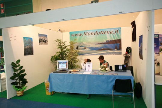 Lo stand Mondo Neve ad Alta Quota 2009