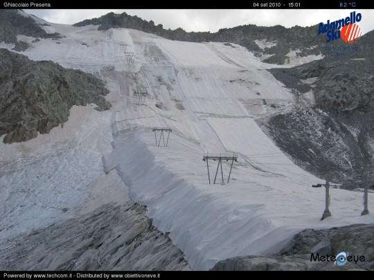 Foto teli geotessili ghiacciaio Presena