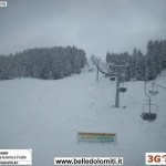 Neve monte Verena 17 ottobre 1600m