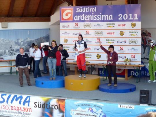 premiazione femminile Gardenissima 2011