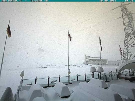 80cm di neve a Passo Stelvio