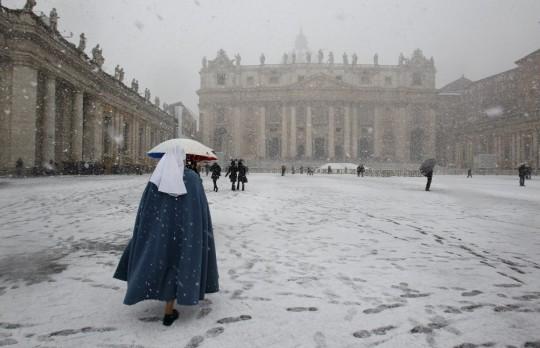 Neve in Vaticano