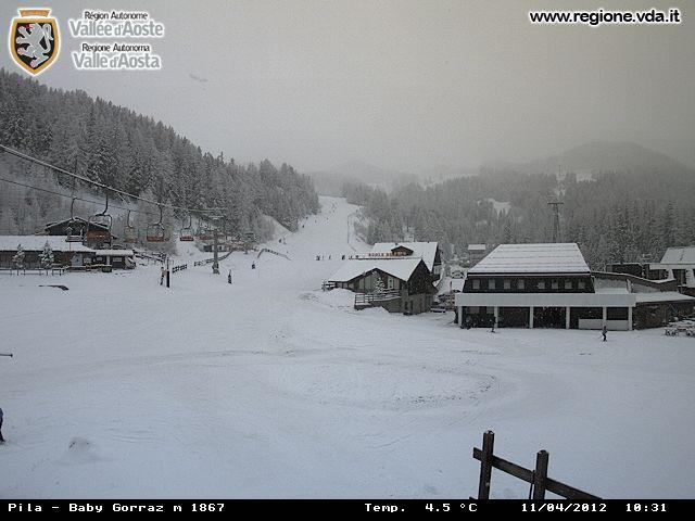 Nevica su tutte le Alpi oltre i 1000m