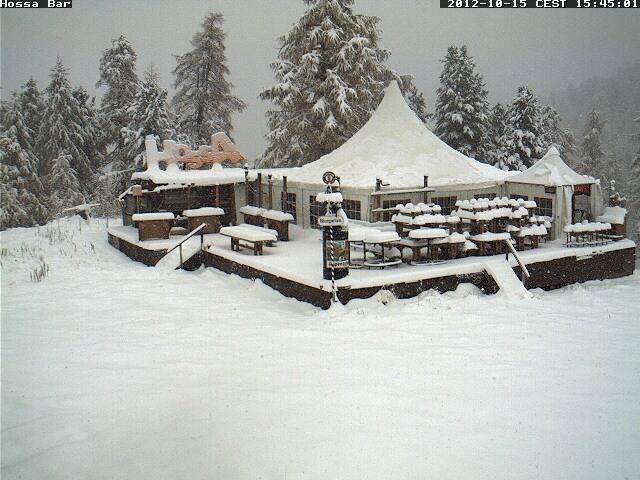 Neve di metà ottobre sulle Alpi, nevicate oltre i 1900m