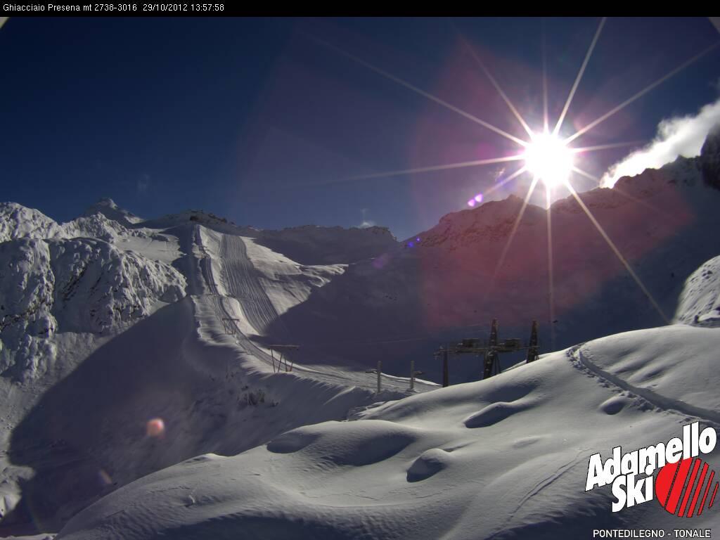 80cm di Neve fresca,sul Presena impianti sciistici aperti dal 1 novembre