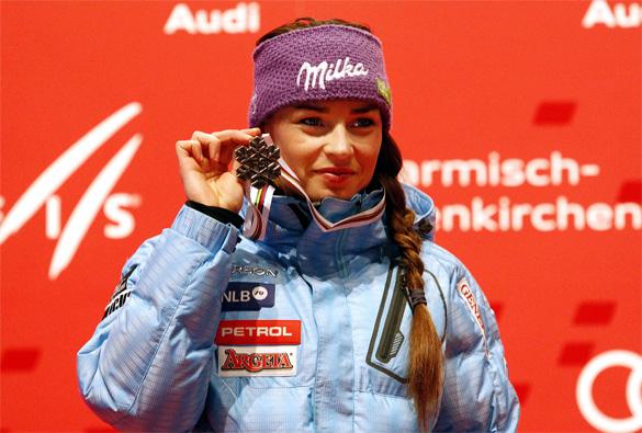 Tina Maze vince la 1° manche del Gigante Femminile di Soelden