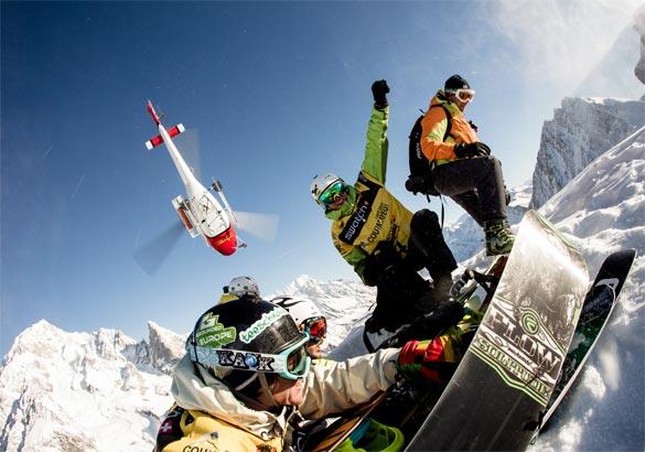 Snowboard: a Courmayeur arriva lo Swatch Freeride World Tour