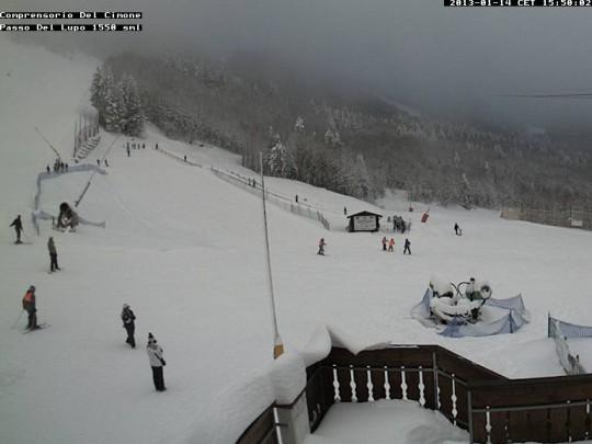 Neve sul Monte Cimone (Emilia Romagna)