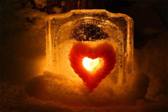 lanterna di ghiaccio cuore