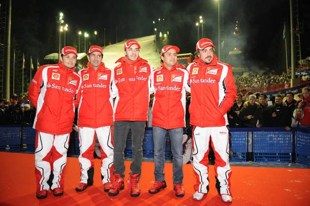 Wrooom 2013 Madonna di Campiglio ospita il press ski meeting Ducati&Ferrari