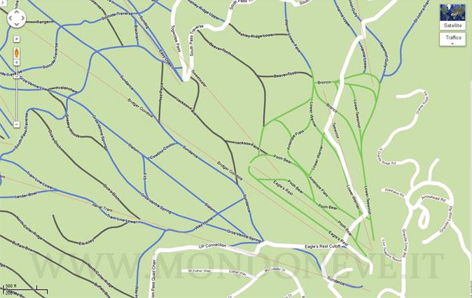 google maps cartine delle piste da sci