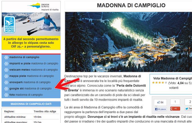 google ski map