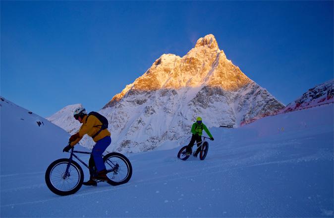 Il Cervino ospita la più lunga Gara di Mountain Bike sulla Neve