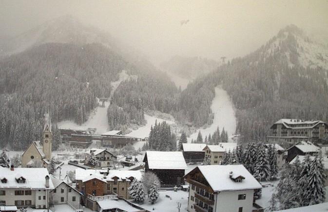 Neve sulle Dolomiti - Arabba 1600 m slm