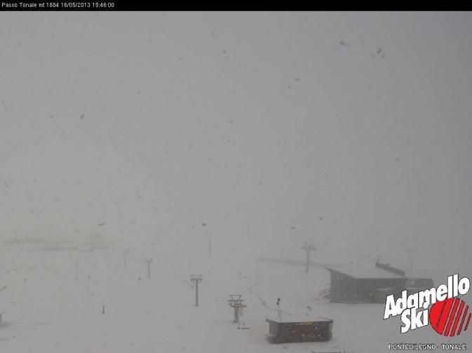 Neve a Passo del Tonale - 16 maggio 2013