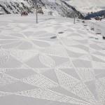 ai piedi della seggiovia - cerchi nella neve