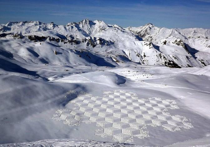 cerchi nella neve alpi