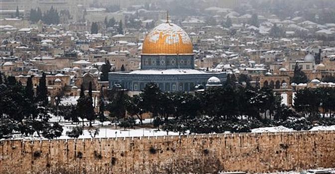 Neve a Gerusalemme, in Italia alta pressione ed inversione termica