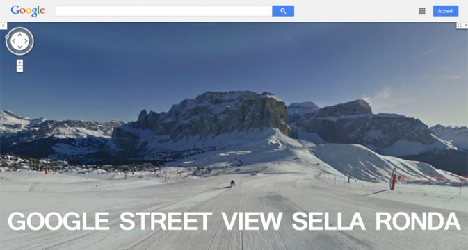google ski view sellaronda