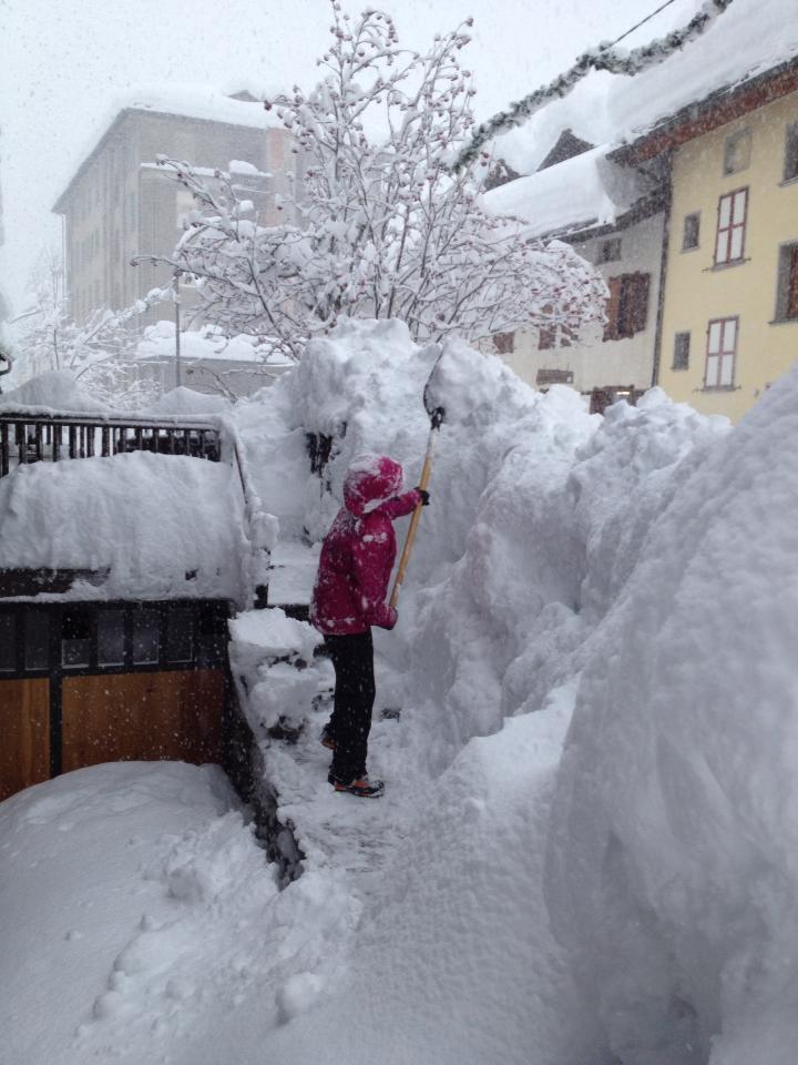 Nevicata Record sulle Alpi, 1 metro di Neve in poche ore