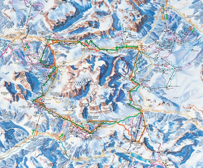 ski map sella ronda