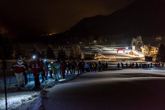 Ciaspolissima 2014, Ciaspolata al chiaro di luna e Dog Trekking in Valbruna