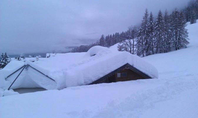 Neve a Cortina - foto Scuola Sci Cristallo