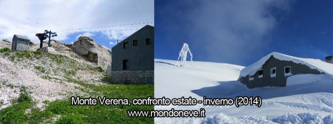 monte verena rifugio neve confronto