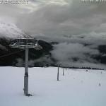 Neve sulle piste di Passo Resia a 2300m