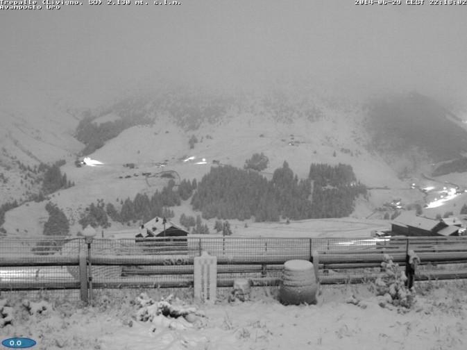 Livigno Trepalle - nevicata estiva del 29 giugno