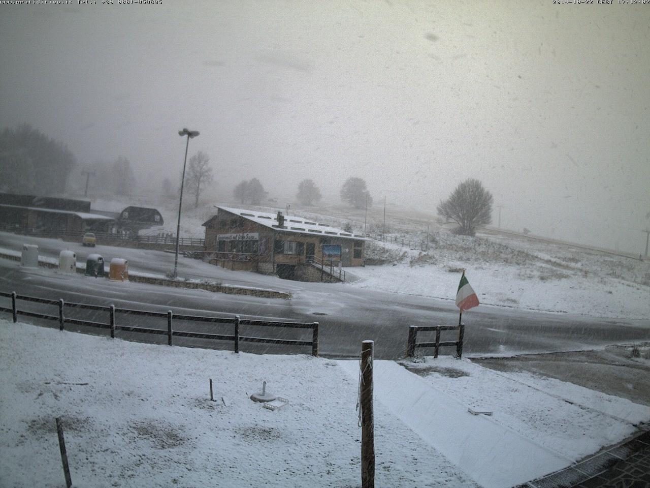 Prime nevicate anche in Appennino, neve fino a 1400 metri