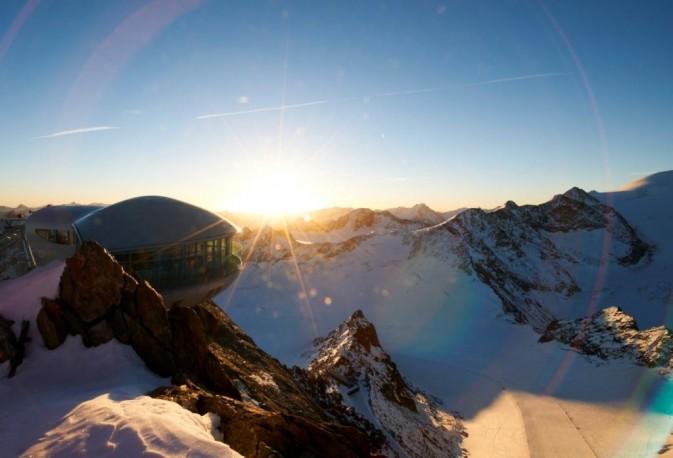 pitztaler ghiacciaio tramonto
