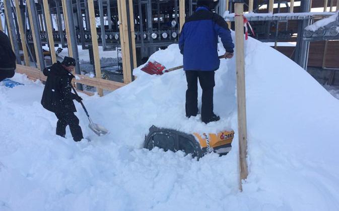 Neve Record a San Domenico, oltre 2 metri di neve in pochi giorni