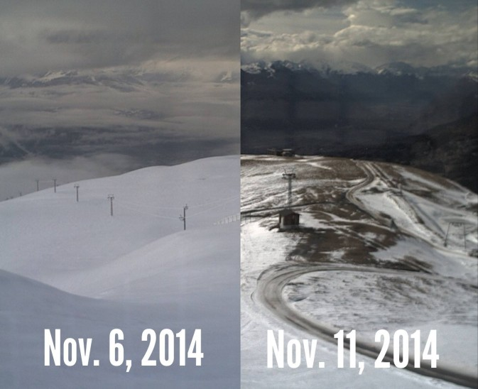 situazione neve crans montana