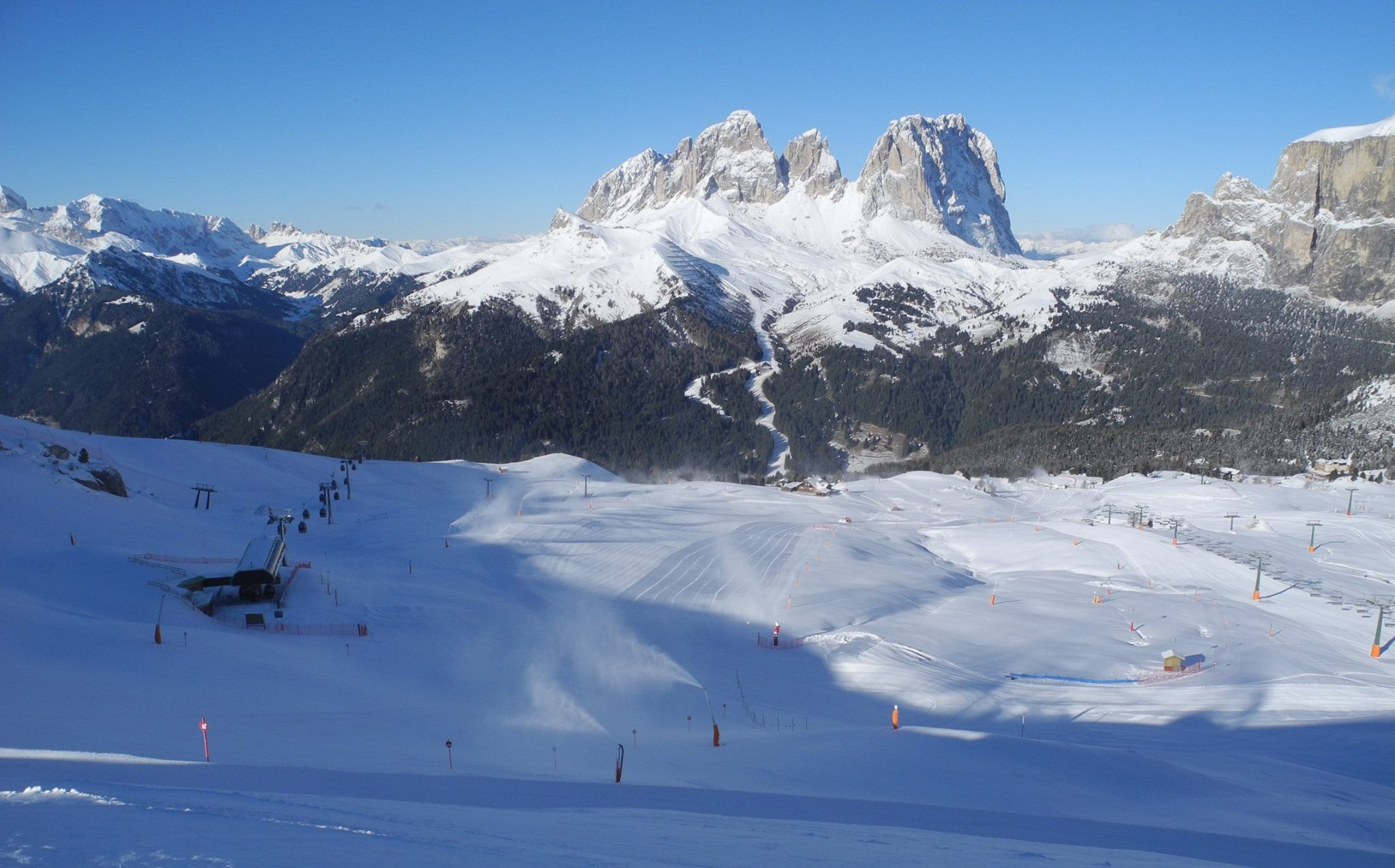 Apertura impianti Val di Fassa: da mercoledì aperte sul Belvedere di Canazei