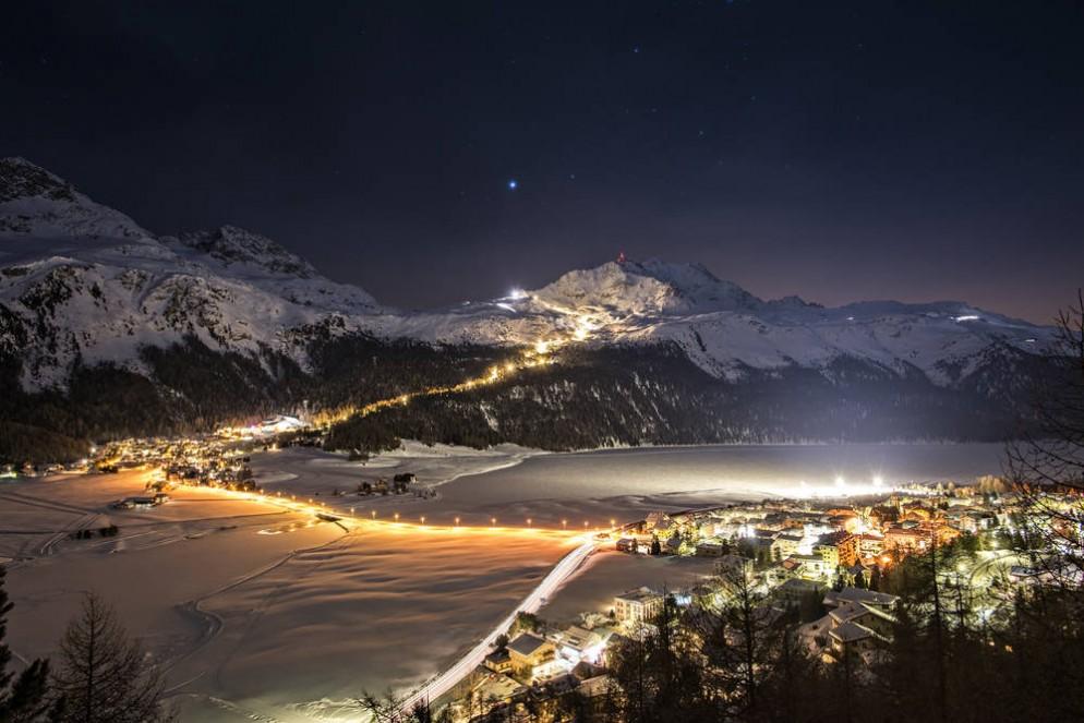 Rinviata la prima Snow Night ma aperte altre piste sul Corvatsch