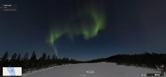 Aurora Boreale Google Maps