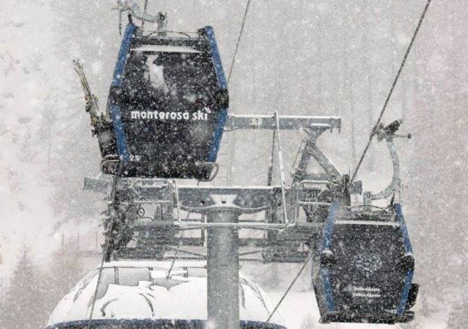 monterosa ski innevata