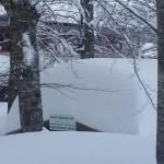 Baita sepolta dalla neve a Prati di Tivo