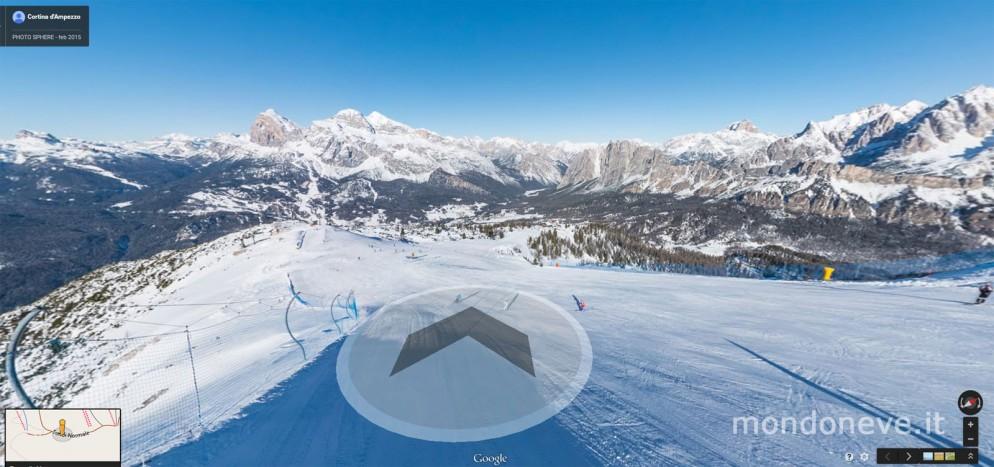 Cortina sbarca su Google Ski Maps, ora si puo' sciare anche virtualmente