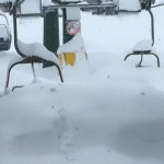 Seggiovia Rossa sommersa dalla Neve a Prato Nevoso