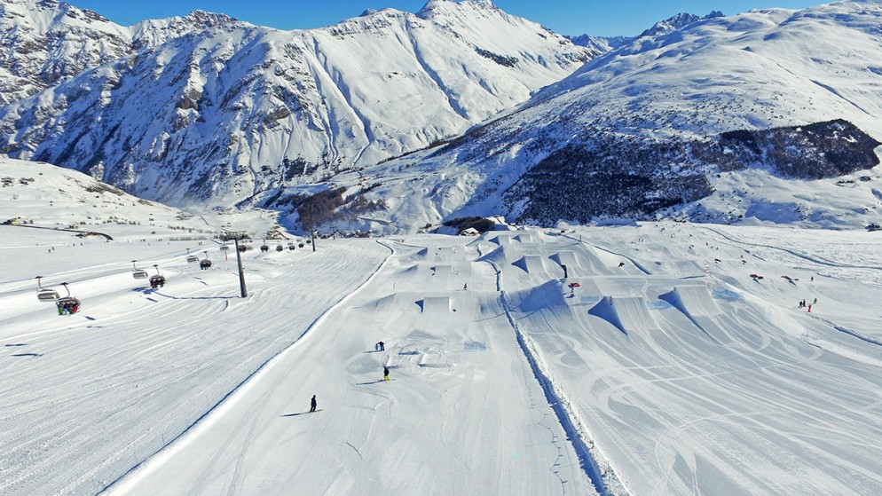 Livigno: lo snowpark Mottolino è aperto al 100%