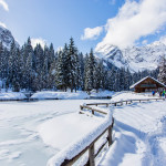 Paesaggio innevato Sappada Plodn Dolomiti - copyright Studio WLTP