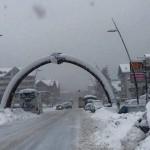 strade innevate ad Aprica
