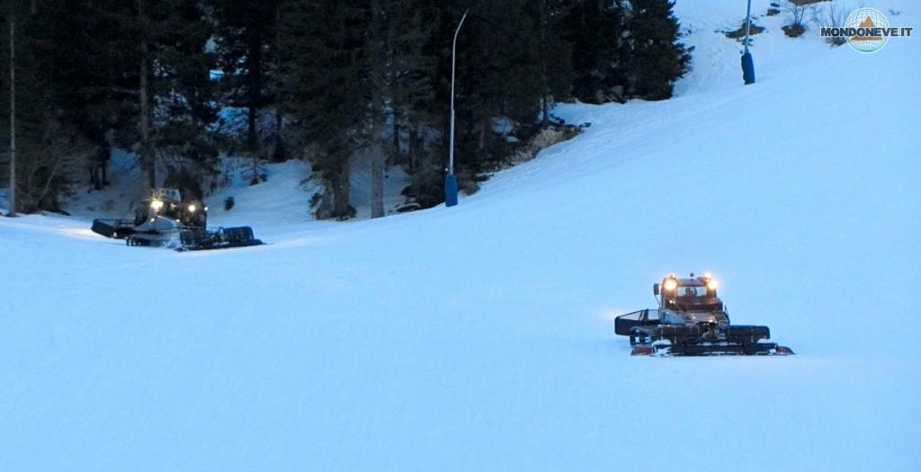 Sabato 2 aprile - I gattisti preparano le piste per lo Slalom dell'indomani