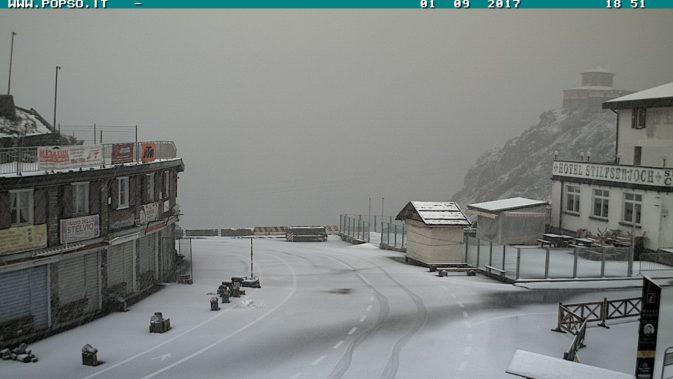 Neve a Passo Stelvio - 1 settembre