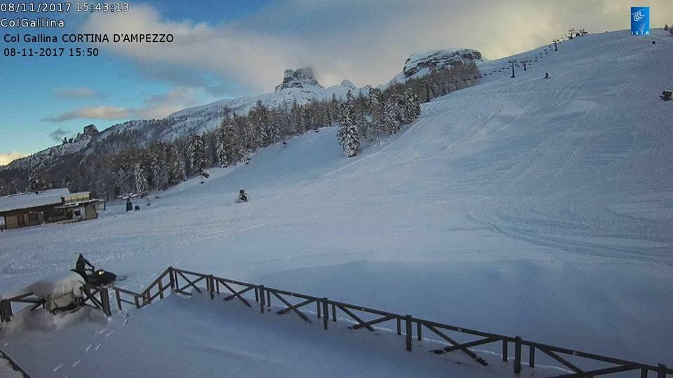 Cortina, Apertura impianti Anticipata a Sabato 11 novembre