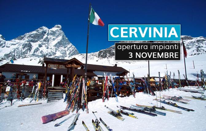 Cervinia, sabato 3 novembre apre anche il Versante Italiano